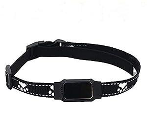 immagine di SNAWEN Impermeabile Pet Mini Smart Tracker GPS Collare per Cani da Compagnia Gatti Localizzatore di localizzazione Dispositivo di localizzazione GPS Tracciante Originale Perso-Nero