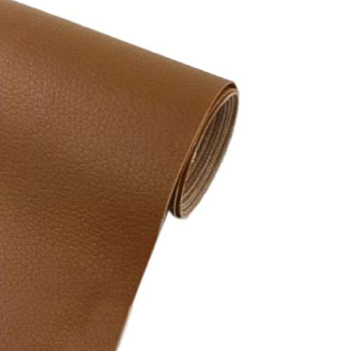 [Fumemo] レザーシール 貼るレザー PU 合皮 レザー 革 家具 ソファ 車 シート 財布 バッグ 修理 (茶)