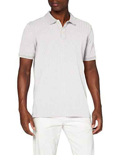 Scotch & Soda Mens Allover Printed Polo Shirt, Combo A 0217, L
