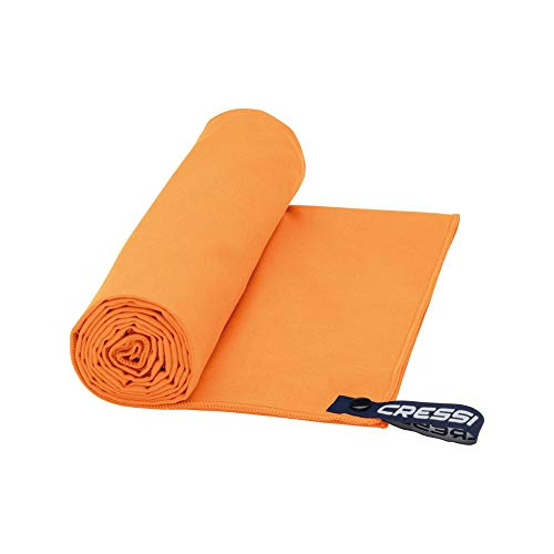 Cressi Microfibre Fast Drying Toalla de Sport, Unisex Adulto, Naranja, 50x100