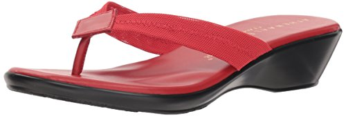 Athena Alexander Women's Ying Wedge Sandal, red Stretch, 10 M US