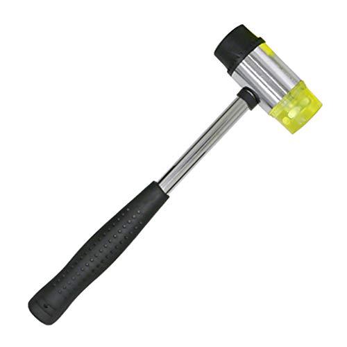 Milageto - Herramientas de reparación de instalación de muebles de mazo de cabeza de martillo de doble cara de goma de 35 mm