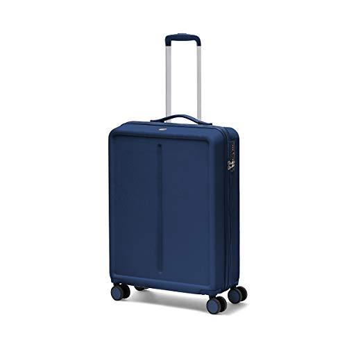 Ciak Roncato, INFINITY - Valigia Trolley da Viaggio, Bagaglio da Stiva Grande in ABS 100% con rotelle girevoli, Blu Navy