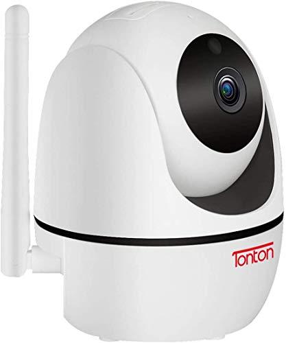 Tonton PTZ Überwachungskamera WLAN Kamera Innen, 355°/90° schwenkbare WiFi IP Kamera, 2,4GHz, Pan Tilt Digitaler Zoom, 2-Wege-Audio (Einzelkamera Betreiben/ 100% Kompatibel Mit Tonton NVR System)