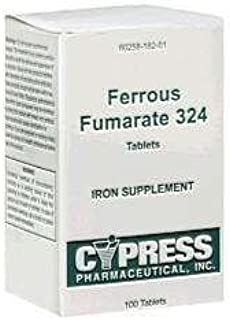 Ferrous Fumarate 324 Mg, Boxed, 100ct Iron Supplement (Pack of 2)