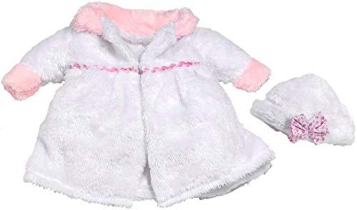 Abrigo Blanco con Detalles Rosa niña 38-42 cm (Bolsa)