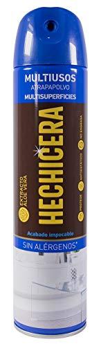 Hechicera | Aerosol Atrapa polvo| Multisuperficies | Con Extracto de Aloe Vera | Sin Alérgenos | No Engrasa | Contenido: 400 ml