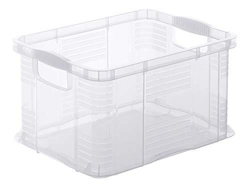 Rotho Agilo Aufbewahrungsbox 17.5l, Kunststoff (PP) BPA-frei, transparent, A4/17,5l (39,0 x 29,0 x 21,5 cm)