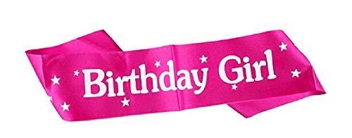 Verjaardagsband - gelukkige verjaardag meisje - juffrouw - vrouw - meisje - grappig - vrouw - grap - gadget - roze - feestje - origineel cadeau idee happy birthday