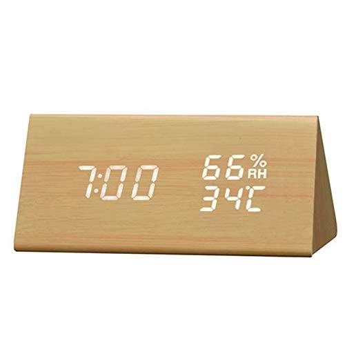 Madera Reloj Alarm Clock  marca CNmuca