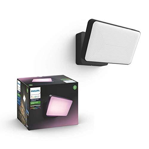 Philips Hue White and Color Ambiance Led-schijnwerper, voor buiten, dimbaar, tot 16 miljoen kleuren, bestuurbaar via app, compatibel met Amazon Alexa (Echo, Echo Dot)