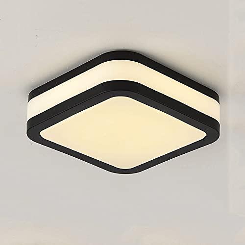 Luz de techo simple moderna con acabado negro, lámpara de techo incrustada LED Luz de luz de tres tonos Lámpara de iluminación de lámparas de acrílico Lámparas de techo para comedores, Salones, Dormit