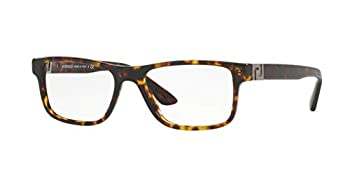 Versace VE3211 Eyeglass Frames 108-55 - 55mm Lens Diameter Dark Havana VE3211-108-55