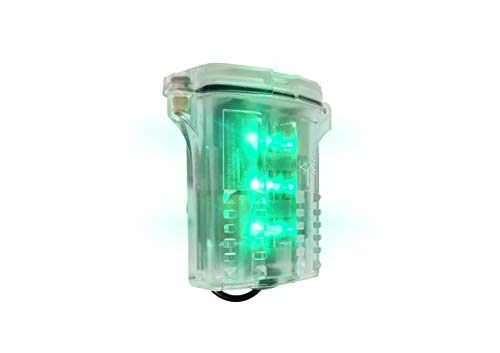 Koehler Bright Star Freakin' Beacon Personal Safety Light   Visible from 1000+ Feet   IP67 Water-Resistant and Intrinsically Safe Design for Work, Industrial Use, Running, Biking, More, Green (71000G)