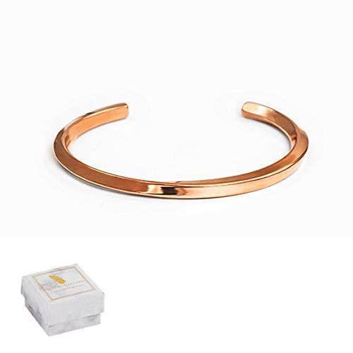 YITONG チタン ブレスレット シンプル アクセサリー チタン バングル チタン製 メンズ レディース(ローズゴールド)