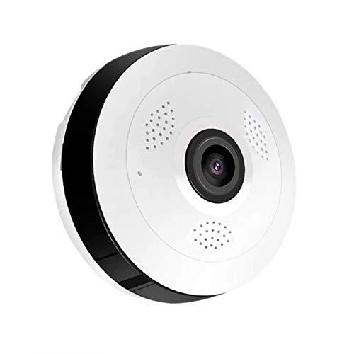 LLKK Cámara panorámica WiFi de 5 MP Cámara IP de seguridad WiFi CCTV vigilancia inalámbrica ojo de pez HD visión nocturna detección de movimiento audio (color: 128 GB)