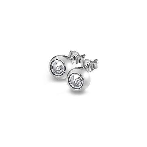 Anais Hot Diamonds Anais Silver Encase Circle Earrings AE015