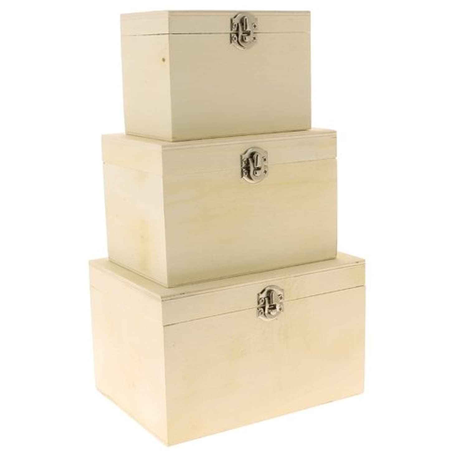 La Fourmi 160 x 120 x 100 mm Nesting Wood Boxes, Set of 3