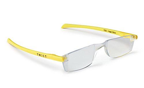 Twist ONE Read Flat Folding Reading Glasses (+3.00, Vegas Yellow)