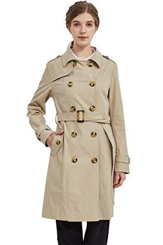 Orolay Damen Trenchcoat lang Klassisch Mantel Outfit Khaki XL