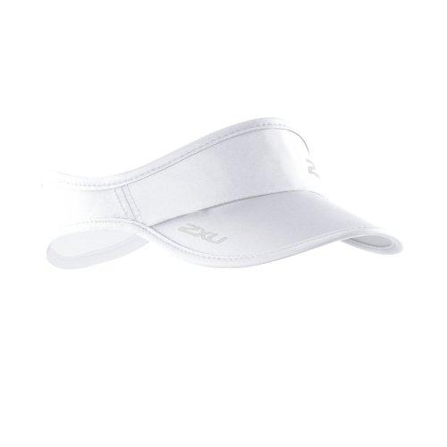 2XU Run Visor, White/White, One Size