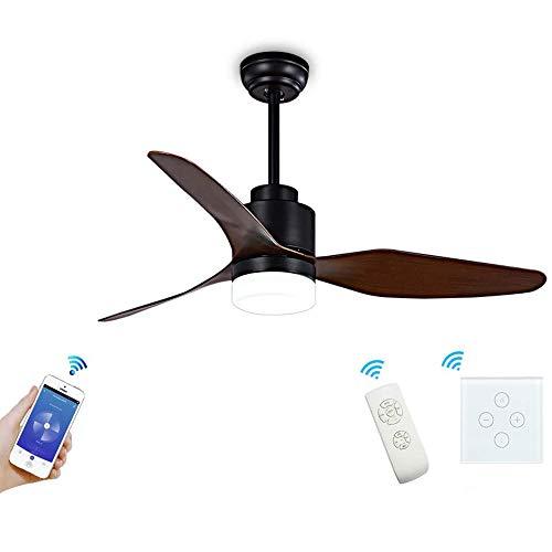 N\A ZGGYA Fan Light WiFi Modern Propeller 3 Blade Techo Ventilador De Techo con Un Kit De Luz LED App/Voice/Touch Control Compatible con Alexa Y Google Home (White) [Clase Energy A +]