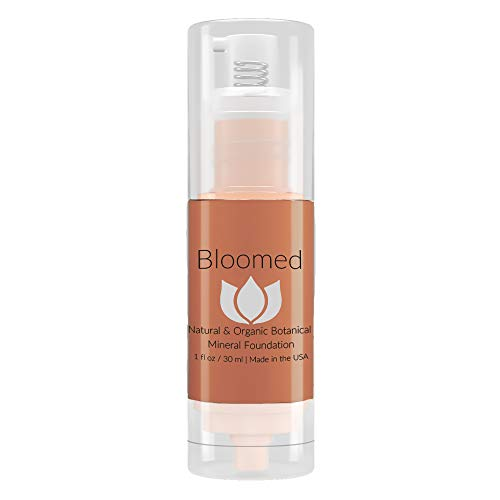 Liquid Foundation Organic Makeup - Best Vegan All Natural Gluten Free Aloe Base Liquid Foundation For Mature Skin (Chocolate Cosmos)
