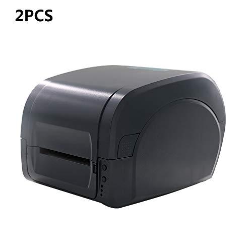 ZUKN Portable Transfert Thermique 80 Mm Largeur d'impression D'imprimante Imprimante Barcode Étiquette Imprimante Interface USB Adapté POS Logistic Retail Restaurant 2 Pièces,300dpi
