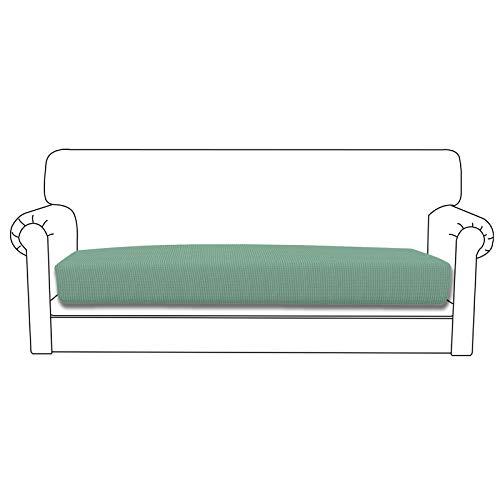 Easy-Going Funda de cojín elástica para sofá, funda de sofá, funda de sofá, suave, flexible, con parte inferior elástica (cojín de sofá, color cian)