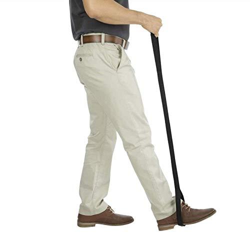 Opfury Beinheberriemen, 115 cm Starre Schlaufe, Handgriff Und Fußschlaufe, Mobilitätshilfe Mit Langem Band Für Ältere Erwachsene