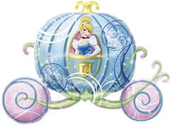 Disney - Ballon Aluminium - Princesse - Carrosse Cendrillon