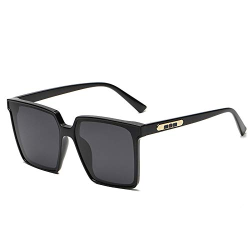 Gosunfly Moda gafas de sol cuadradas de gran tamaño para hombre gafas de sol polarizadas de cara grande tendencia femenina