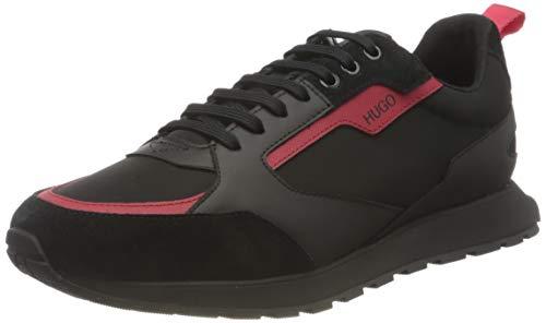HUGO Herren Icelin_Runn_nypu Sneaker, Black6,41 EU