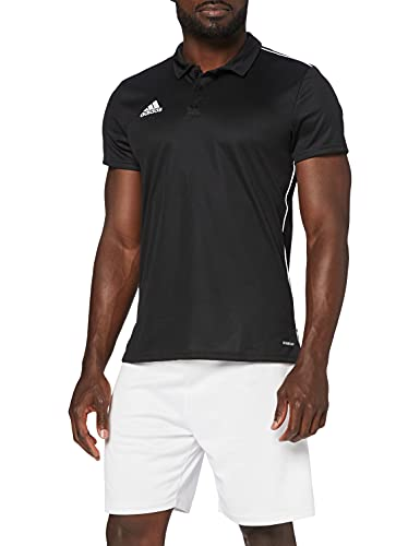 Adidas CORE18 POLO Polo shirt, Hombre, Black/ White, M