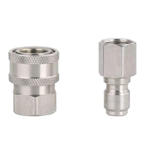2tlg Hochdruckreiniger Kupplung Stecknippel Schnellkupplung, 3/8 Zoll Quickconnect(male+female)