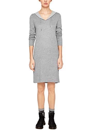 s.Oliver RED Label Damen Hoodie-Kleid aus Doubleface-Strick Grey Melange 40