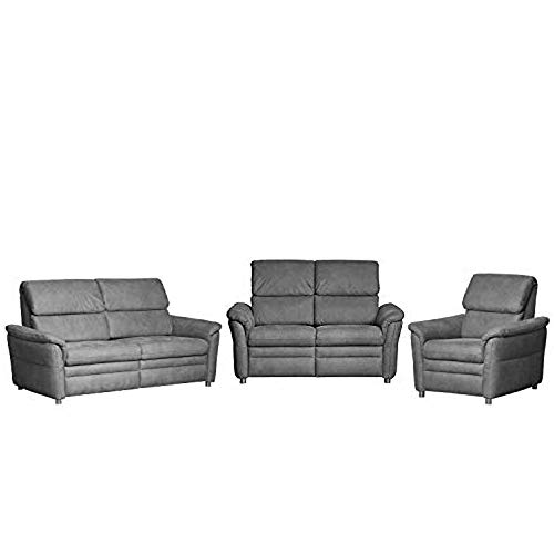 CAVADORE Polstergarnitur Chalsay inkl. Relaxfunktion und Kopfteilverstellung / 3-Sitzer, 2-Sitzer und Sessel / mit Federkern / moderne Polstergruppe / Sofa...
