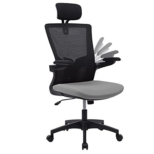 Bürostuhl, Ergonomischer Schreibtischstuhl, Computerstuhl aus Netzgewebe,Verstellbarer...