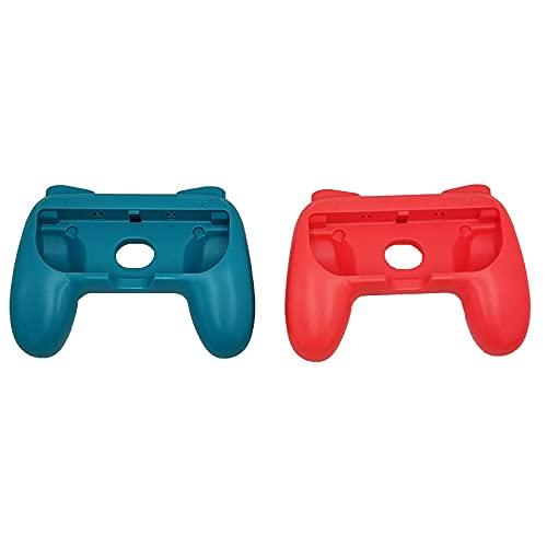 Switch Joy-con対応 ハンド グリップ R/Lボタン拡大 人間工学 滑り止め 装着簡単 マリオ ハンドル