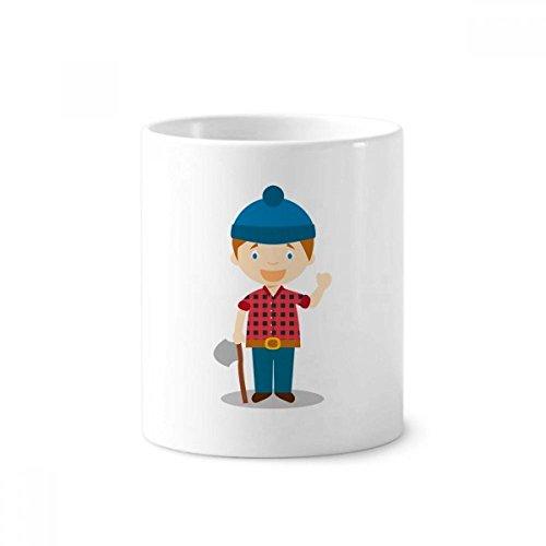 DIYthinker Blue Hoed Shirt Canada Cartoon Keramische Tandenborstel Pen Houder Mok Wit Cup 350ml Gift 9,6 cm hoog x 8,2 cm diameter
