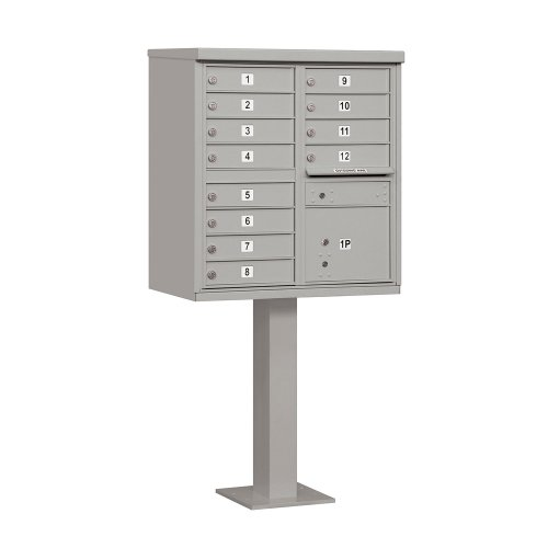 Salsbury Industries 3312GRY-U 12 A Size Doors, Gray Type II Cluster Box Unit Mailbox