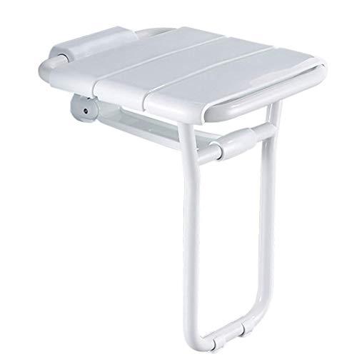 GWFVA Badleuning, opklapbare kruk, douchestoel voor wandmontage, badveiligheidstoel, gehandicapte toegankelijke Barrièrevrije roestvrijstalen kruk, geschikt voor badkamers, toiletten, kinderen, senioren