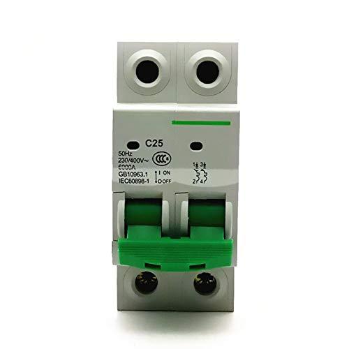WANGYIYI Interruptores de circuitos multifuncionales Interruptor de Aire Bipolar 2p Sobrecarga de protección doméstica Interruptor de Fuga de Fugas Caja Moldeada DISCUTADOR (Rated Current : 32A)