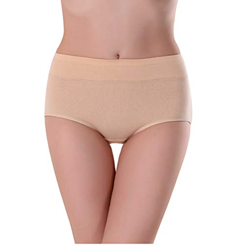 Womens-UnderwearMid-Waist-No-Muffin-Top-Full-Coverage-Cotton-Brief-Ladies-Panties-Lingerie-Undergarments-for-Women-Multipack