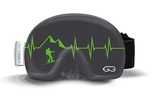 SOGGLE Heartbeat 03 - Funda de microfibra para gafas de esquí (talla única), color negro