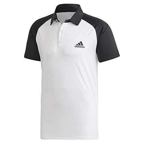 adidas Originals Club C/B - Polo para Hombre, Hombre, Polo, FRO44, Blanco y Negro, Large