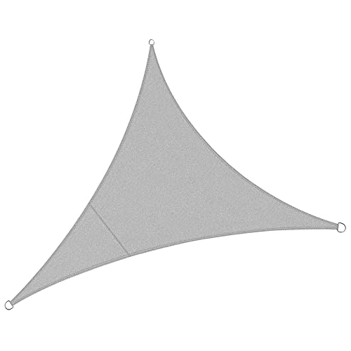 WLL-DP Vela de triángulo Sun Shade, toldo de toldo de Sombra de Bloque UV Impermeable para Fiesta de Patio de jardín al Aire Libre