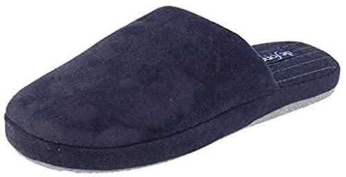 de fonseca Pantofole Ciabatte Invernali Uomo MOD. Roma Top M405 Blue (Numeric_40)