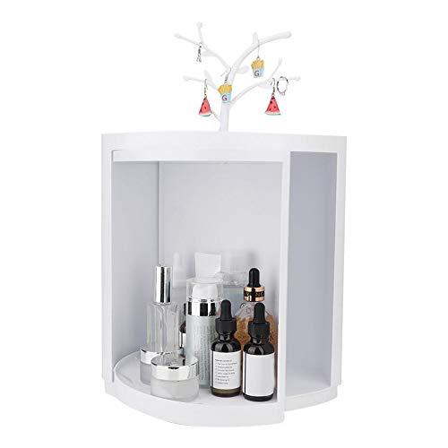 化粧品収納ボックス、バスルーム隠し三角ラック、多機能回転壁コーナーツールボックスシェルフキッチン雑貨、キャビネット