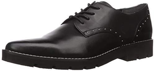 Franco Sarto Women's Devoted Oxford Flat, Black Leather, 10 M US